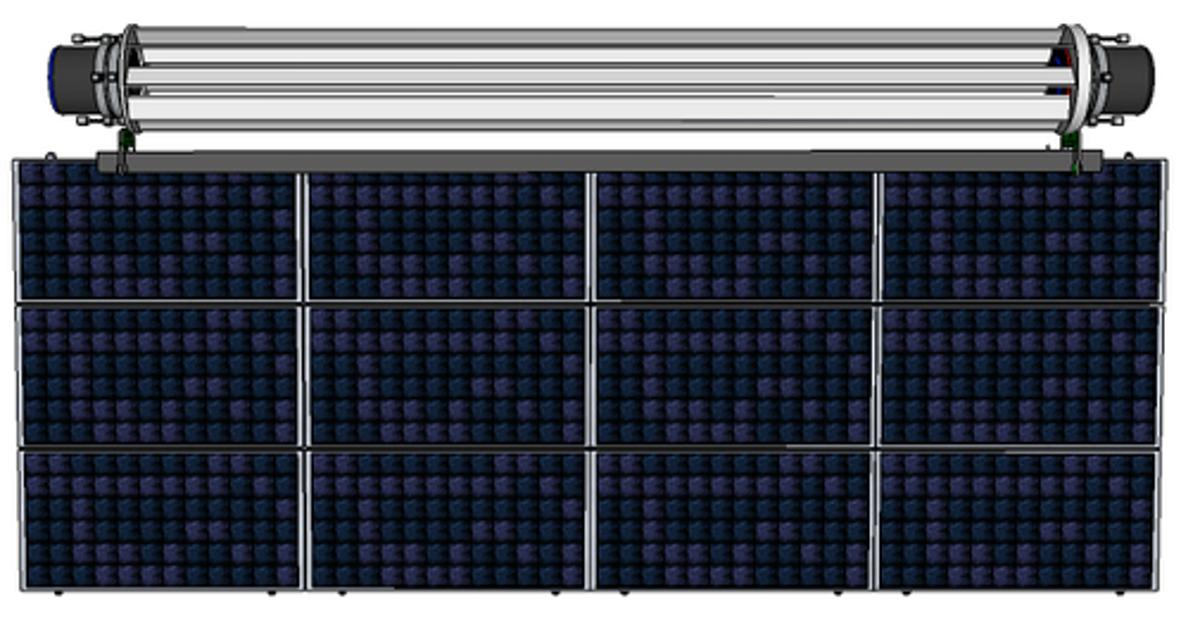 The primary niche is to clip the generator to the top of existing solar panels in large arrays
