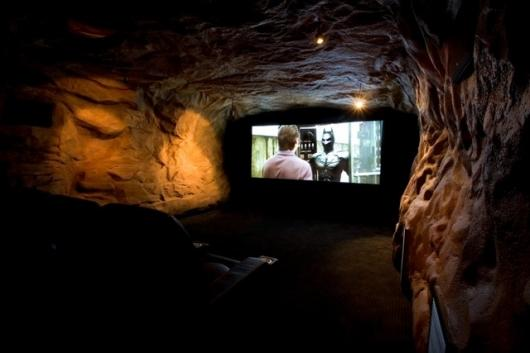 The Bat Cave room measures 26ft x 18ft and is in the basement of the home