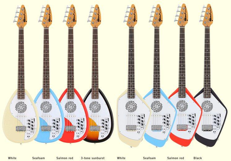 All the Apache bass guitars and color options
