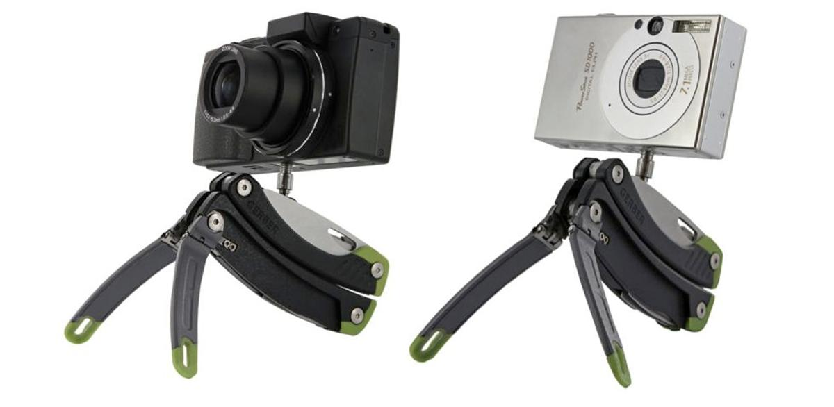 The Gerber Steady multitool features a built-in miniature tripod