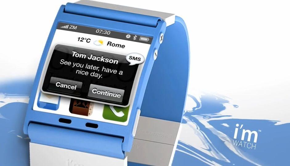 I'm Watch is a smartphone-compatible wristwatch, designed to work with iOS- and Android-based cell phones (Image: Blue Sky s.r.l.)