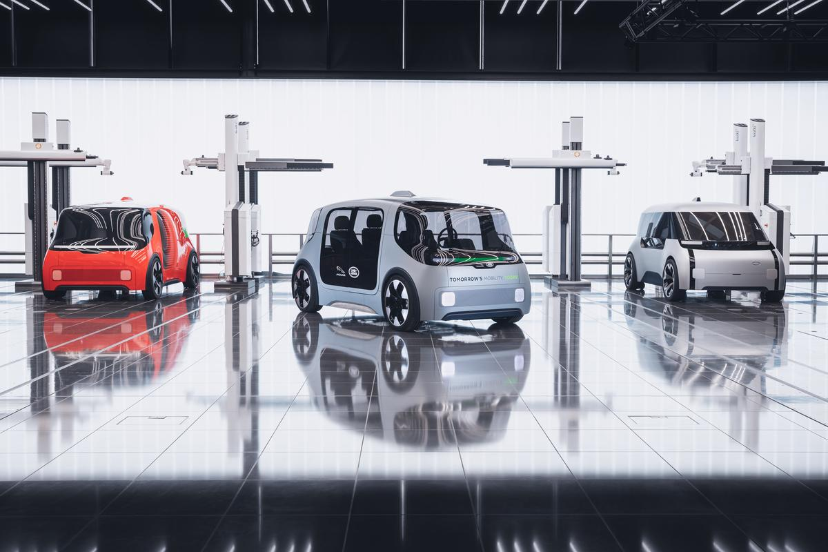The connected, autonomous electric Vector vehicle is part of Jaguar Land Rover's vision of a zero emission, zero accident and zero congestion mobility future