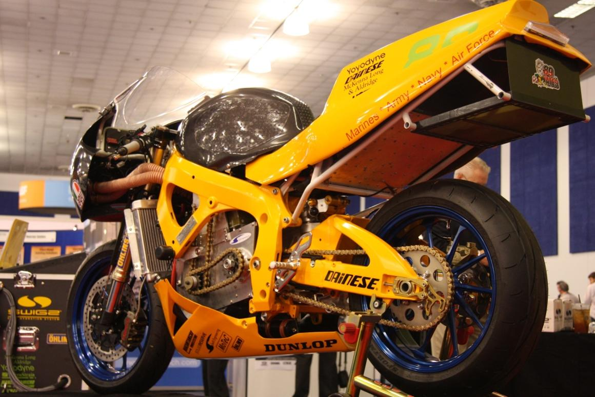 The SWIGZ electric superbike, going head to head against petrol-powered superbikes in less than a month.