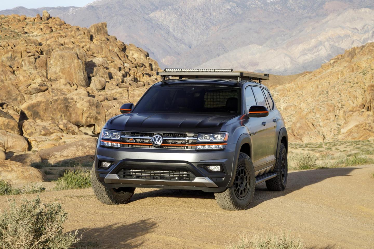 The Basecamp Concept is based on an Atlas SELPremium with 276-hp V6 and 4Motion all-wheel drive
