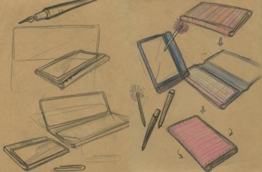 Pocket Yoga Concept Drawings