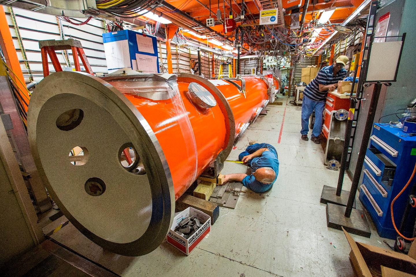 Each cryomodule will undergo rigoroustesting before it's shipped out to the SLAC National Accelerator Laboratory