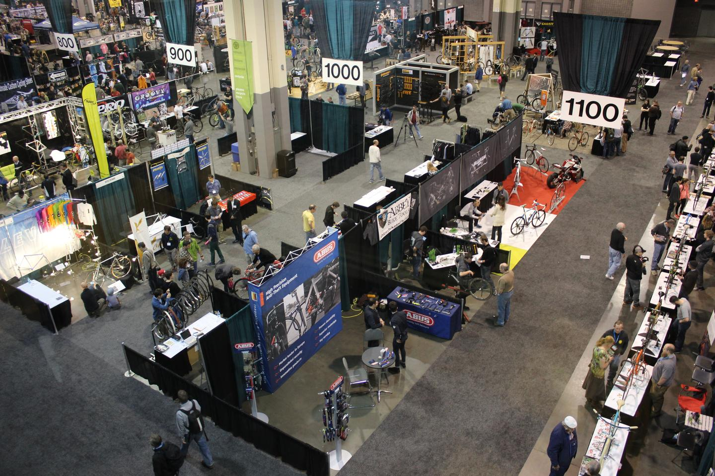 A wide view of the trade show floor – or some of it, at least