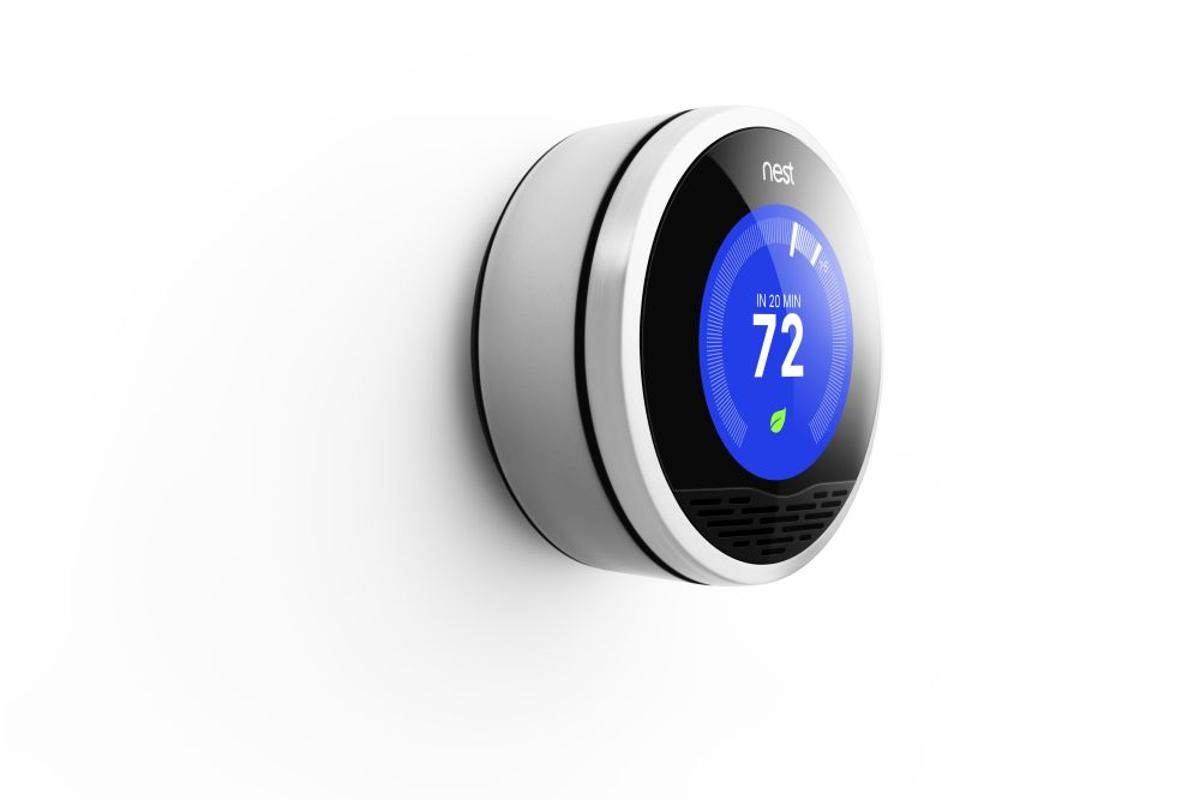 The Nest Learning Thermostat is capable of self-programming itself via its user's habits, activity sensors and Internet-gathered weather information