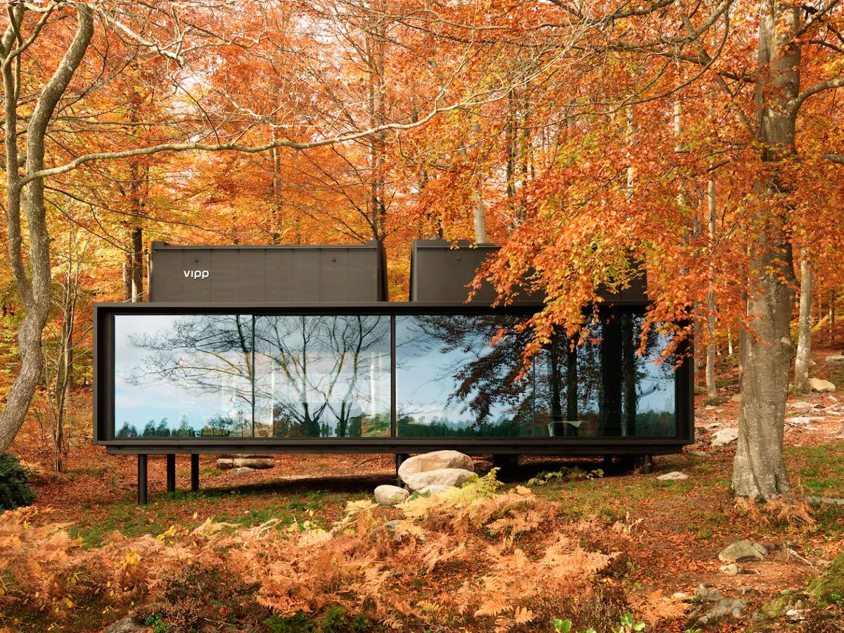 TheVipp Shelter pictured issituated in an isolated area in a Swedish forest