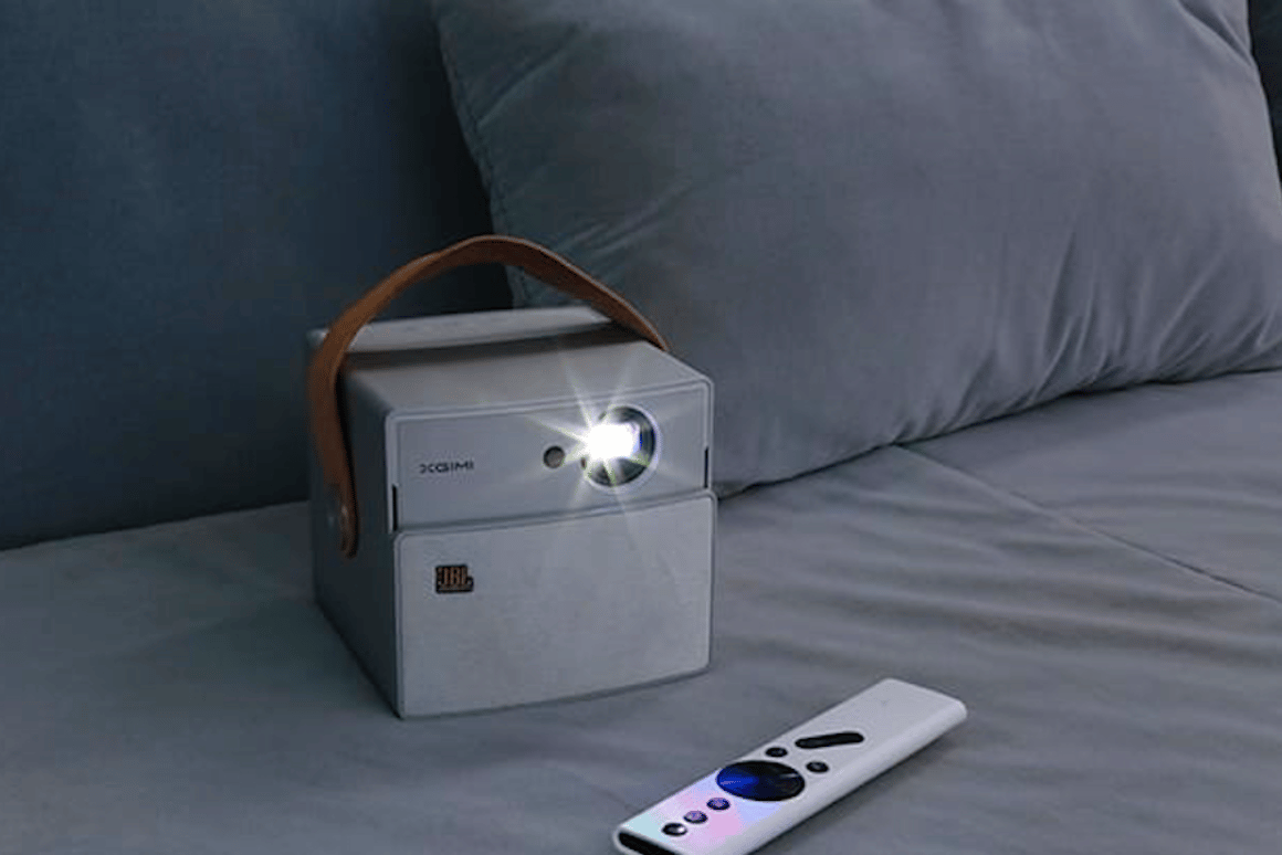 TheXgimi CC Aurora is a boxy portable projector jammed with features, including long battery life and bright images