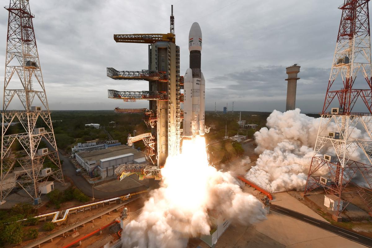 Chandrayaan-2 lifting off