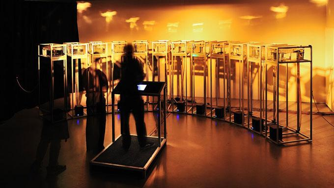 The Scale exhibit at the STRP Festival (Photo: Mick Visser)