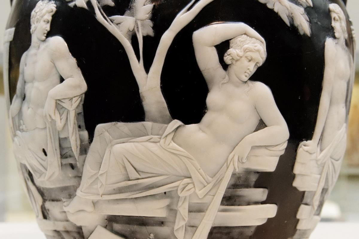 Reclining woman scene on the Portland Vase