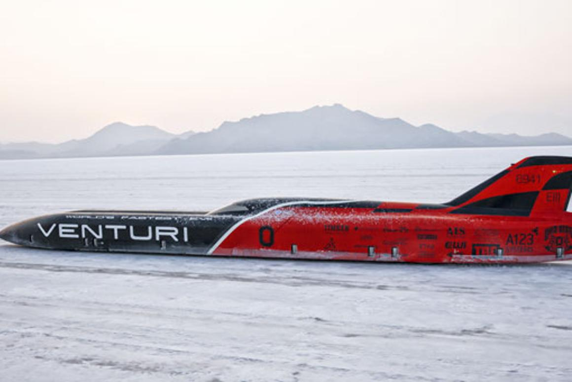 The VBB-3 braved rough conditions to set a claimed record of 240 mph
