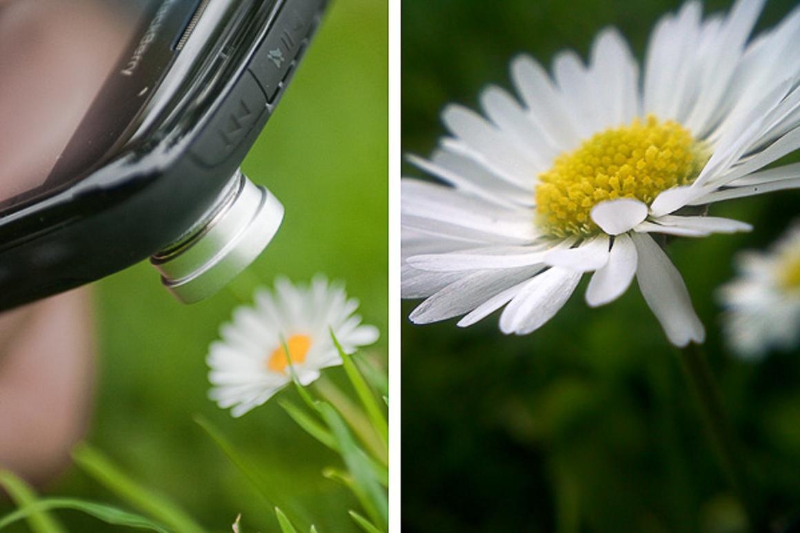 The shot distance of the macro lens is between 10-23 mm