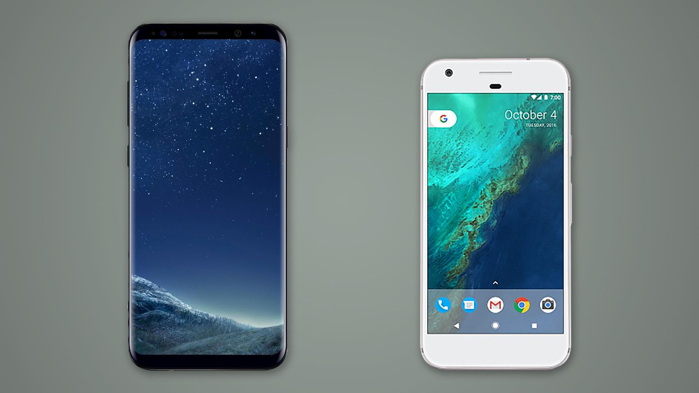 Sizing up the Samsung Galaxy S8+ against the Google Pixel
