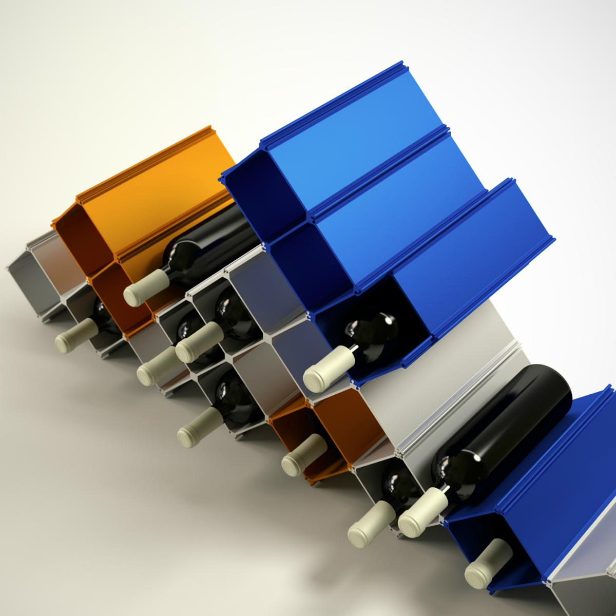 The options for the Nucleus wine rack are numerous
