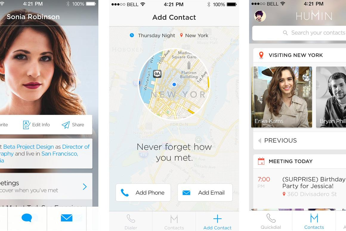 Humin is a new app that aims to present contacts in a contextual manner