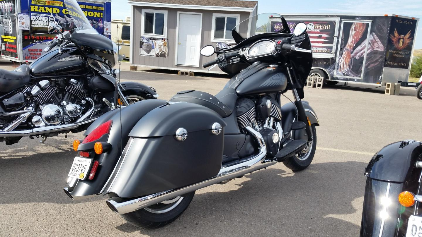 From any angle, it's hard to mistake the Indian Chieftan Dark Horse for the competition