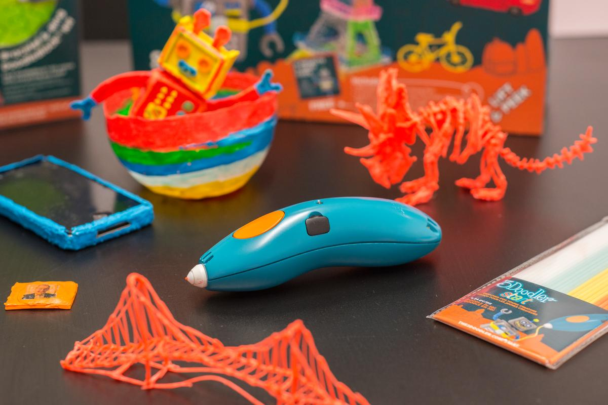 The 3Doodler Start is a 3D pen from WobbleWorks designed specifically for kids