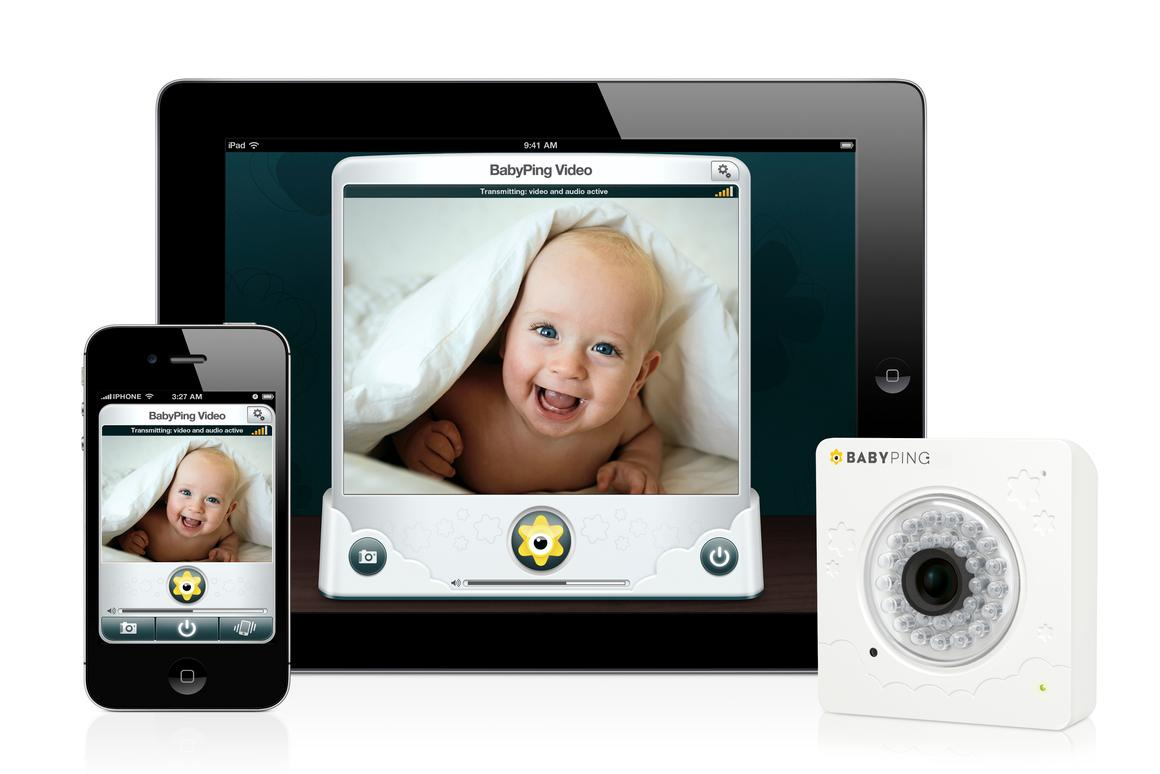 The BabyPing monitoring system will allow parents to hear and view their baby utilizing an iPhone, iPad or iPod Touch