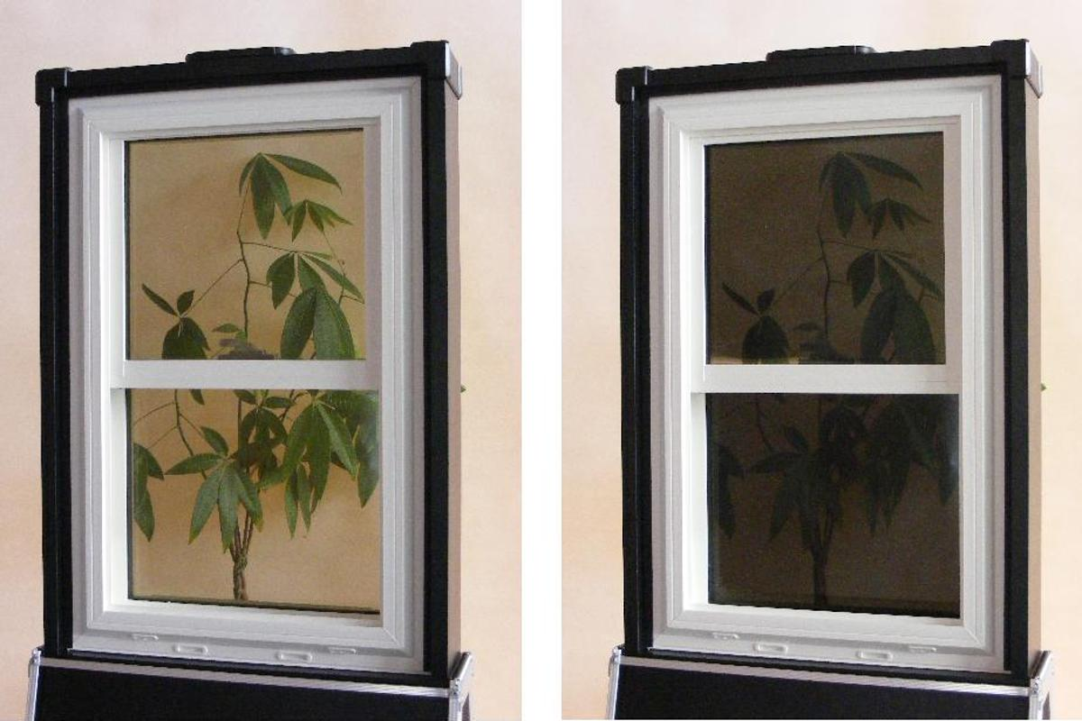 RavenWindow in cold and hot weather, from left to right