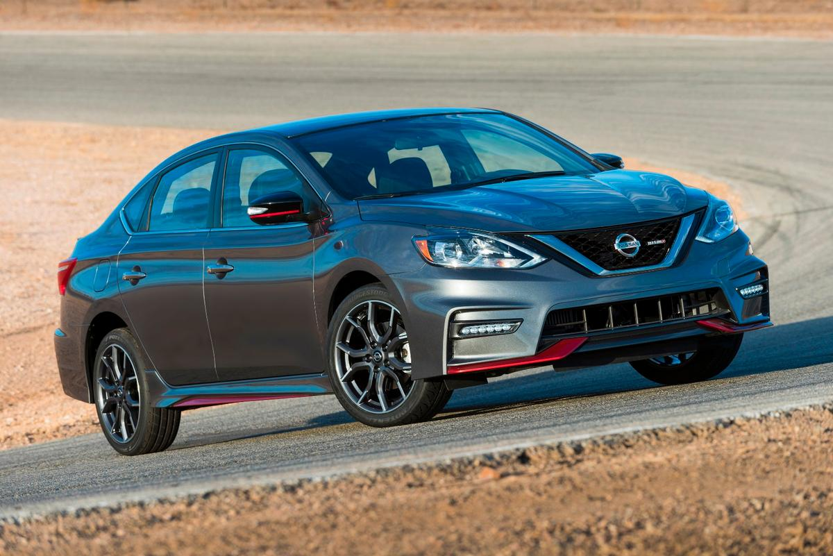 One of four color options for the 2017 Nissan Sentra NISMO is Gun Metallic, as seen here
