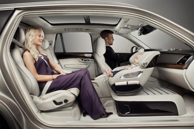 Volvo's Excellence Child Seat Concept puts the baby face-to-face with the rear passenger
