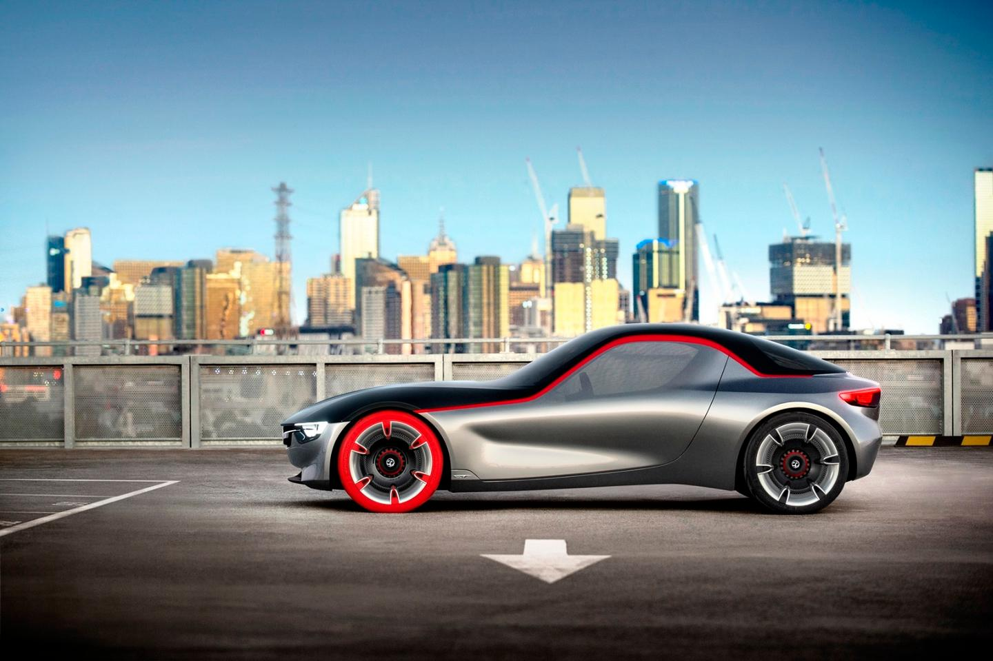 The GT Concept draws inspiration from the 1966 Vauxhall XVR and the 1965 Opel Experimental GT