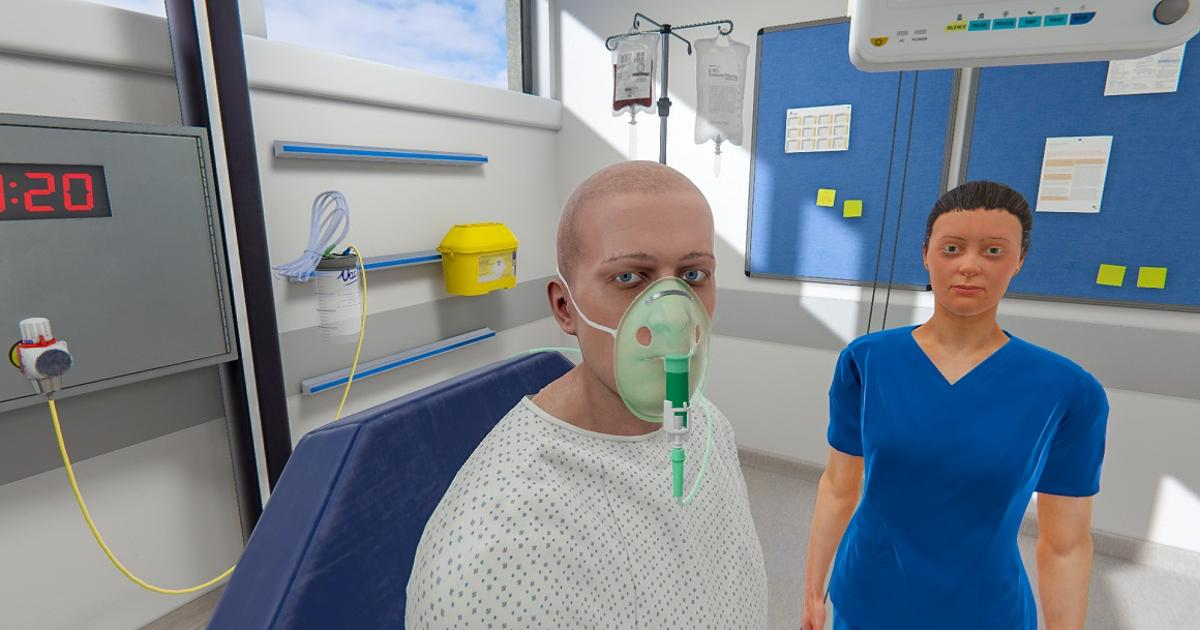 Student nurses get immersive training in virtual hospital ward