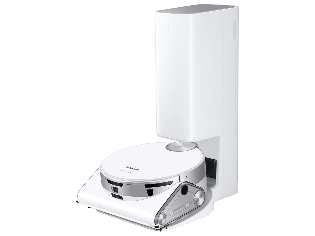 The Jet Bot AI+ robot vacuum will automatically empty at the Clean Station, which also tops up it Li-ion batteries