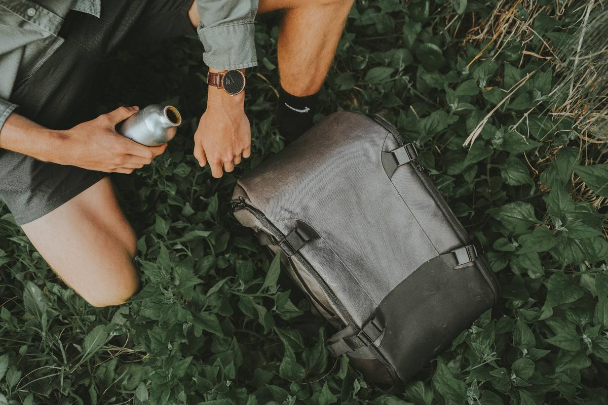 The GoBag backpack, on the go