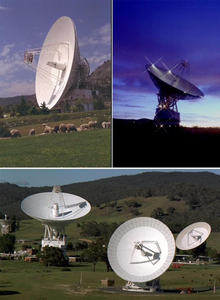 NASA's Deep Space Network of antenna stations used to receive the data from New Horizons