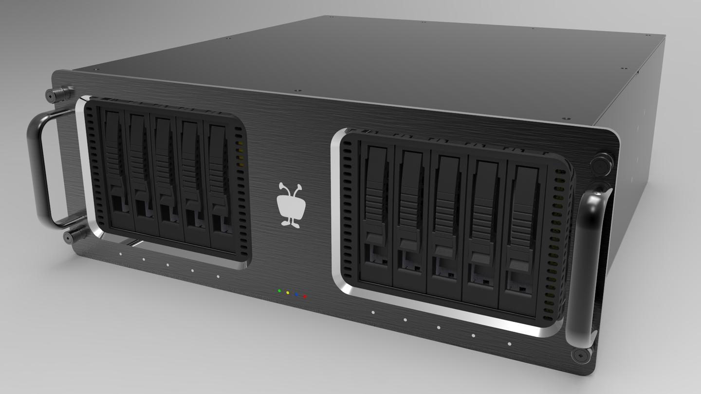The TiVo Mega features 24 TB of storage thanks to 10 hot-swappable HDDs