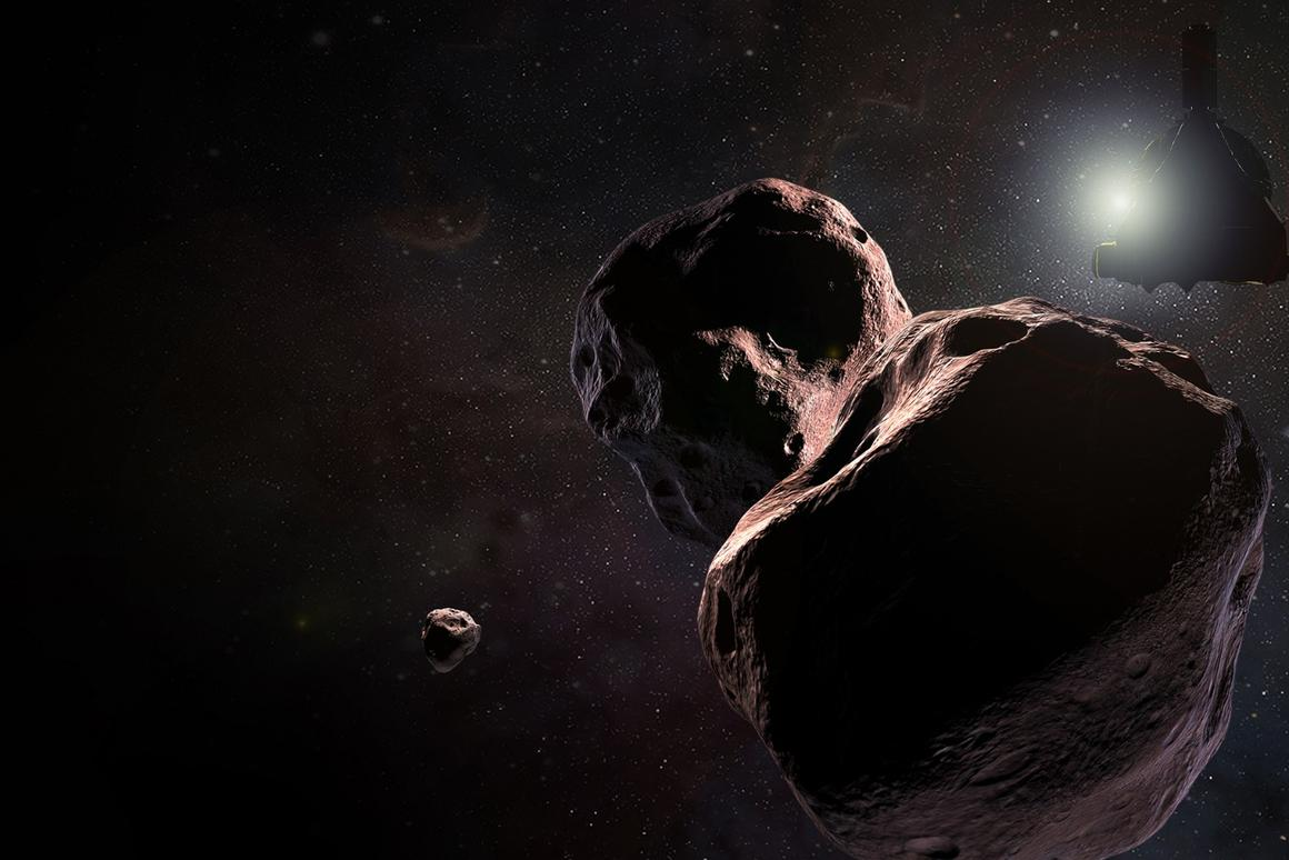 An artist's impression of Ultima Thule, which will be buzzed by New Horizons on its optimal path on January 1, 2019