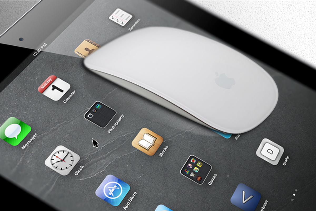 A mouse on an iPad? (Mouse image: Yutaka Tsutano)