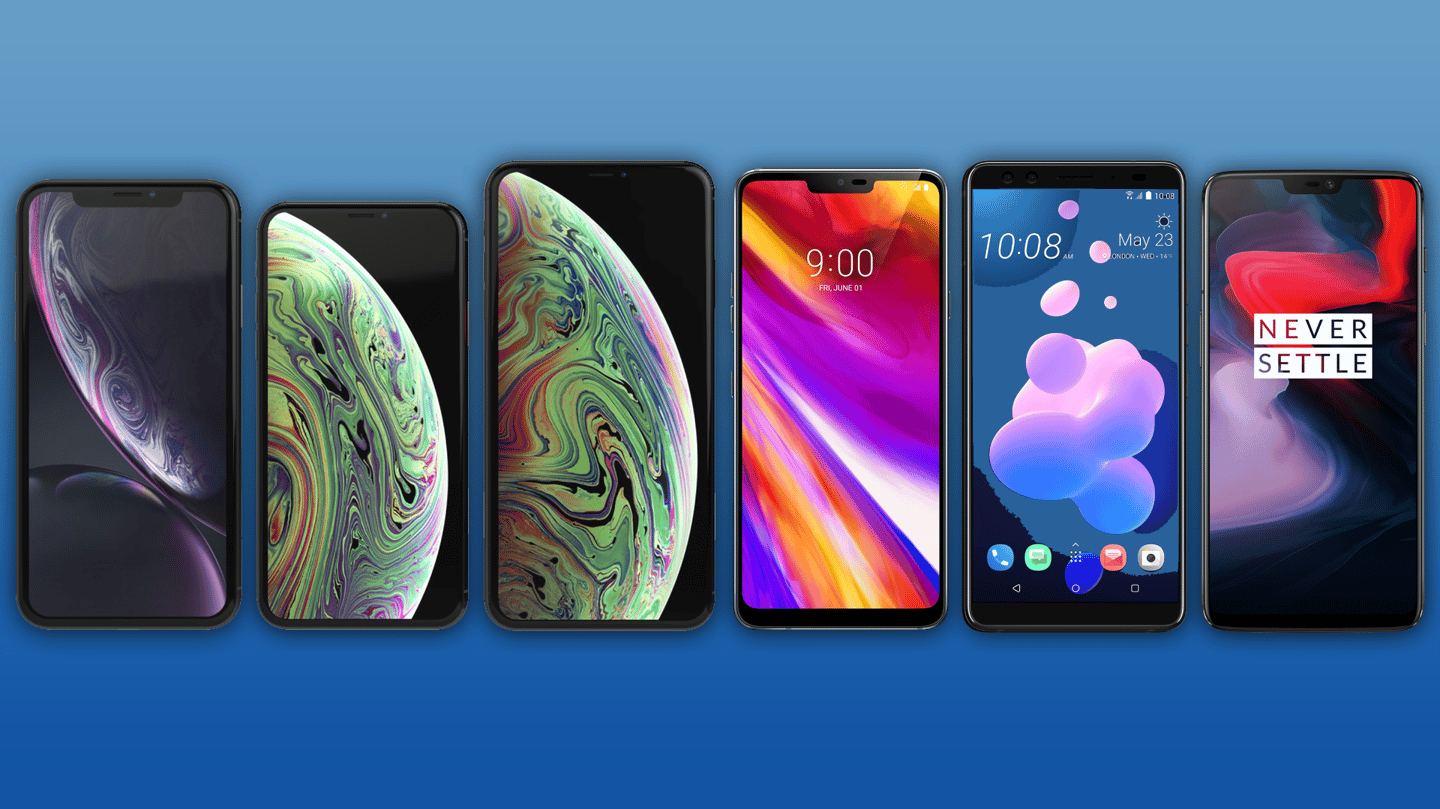 New Atlas compares the specs and features of the iPhone XR, XS, XS Max, LG G7 ThinQ, HTC U12+ and OnePlus 6