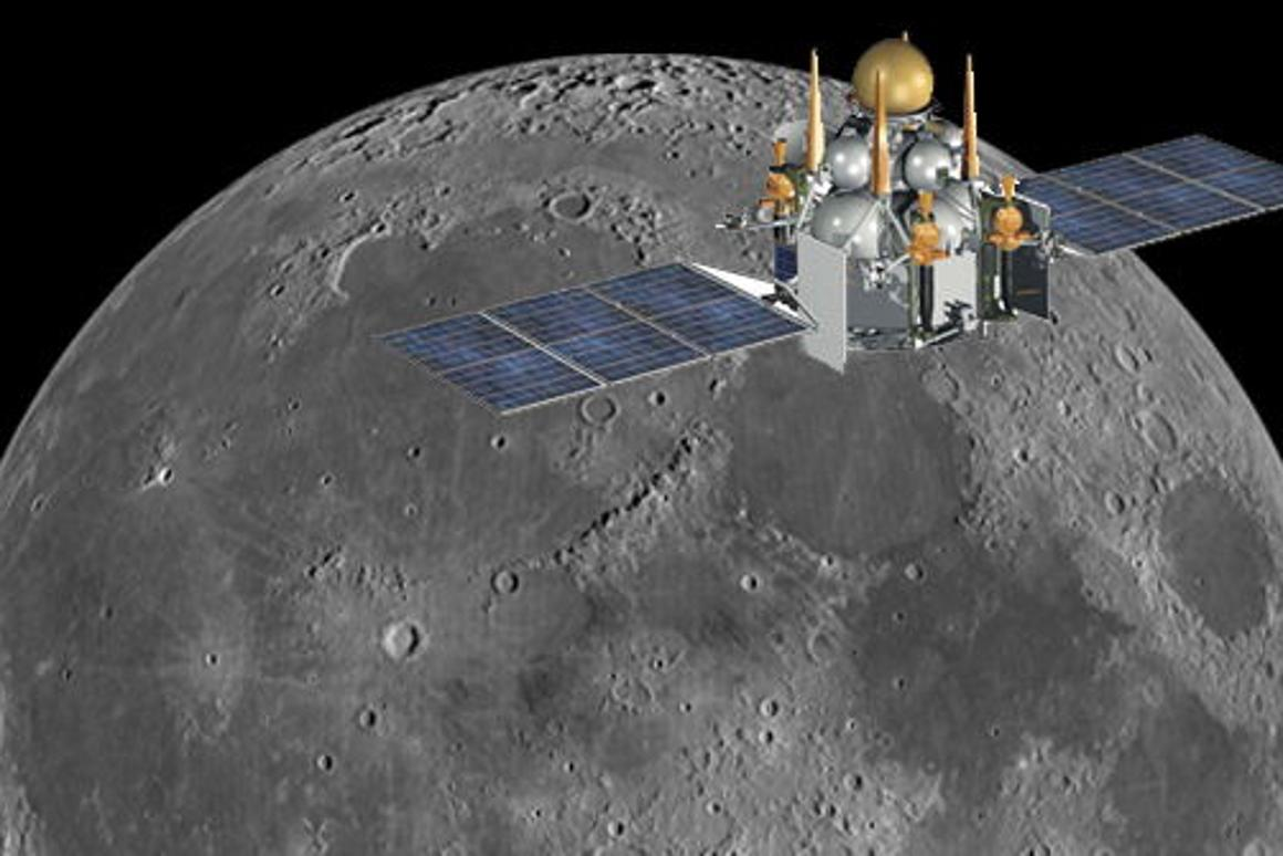 Russia is planning to launch probe Luna-Glob in 2015 as a first step toward building a fully robotic base on the surface of the Moon (Image: NASA)