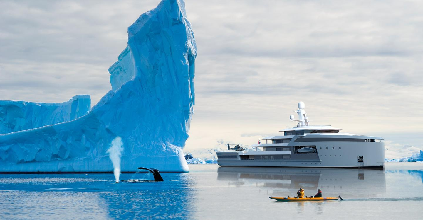 The SeaXplorer is being built by Dutch shipyard Damen, and was designed in partnership with yacht-builder Amal Ltd., extreme travel company EYOS Expeditions, and Azure Yacht Design & Naval Architecture