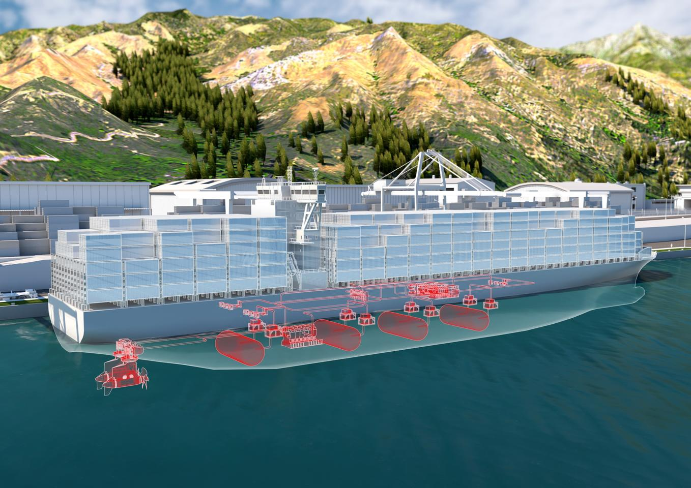 ABB and Hydrogene de France are teaming up to build enormous hydrogen fuel cell powertrains for large marine vessels