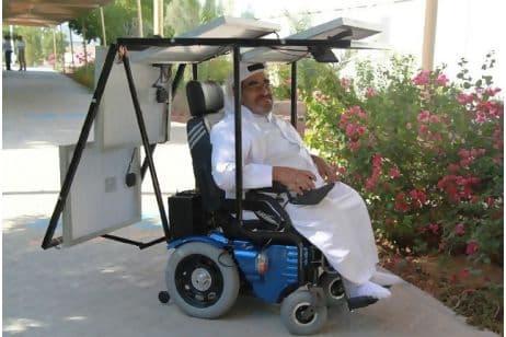Haidar Taleb and his solar-powered wheelchair