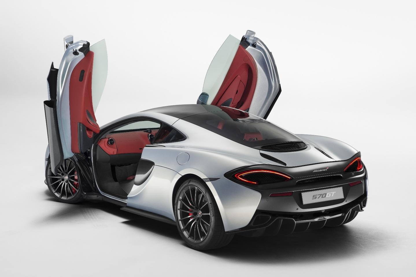 McLaren's dihedral doors and a low, narrow sill should make it easier for people to get into the GT