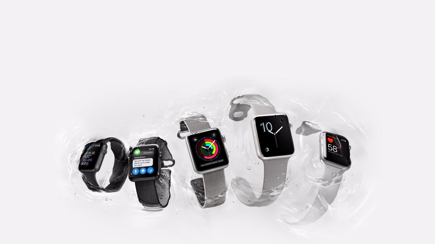 Among other new goodies, the Apple Watch Series 2 gets water resistance up to 50 m