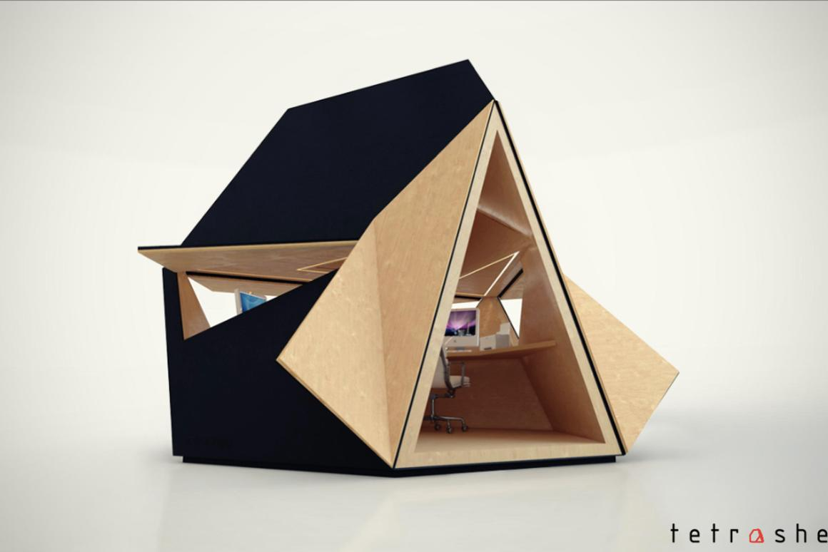 The Tetra-Shed as a yard office (Photo: Tetra-Shed)