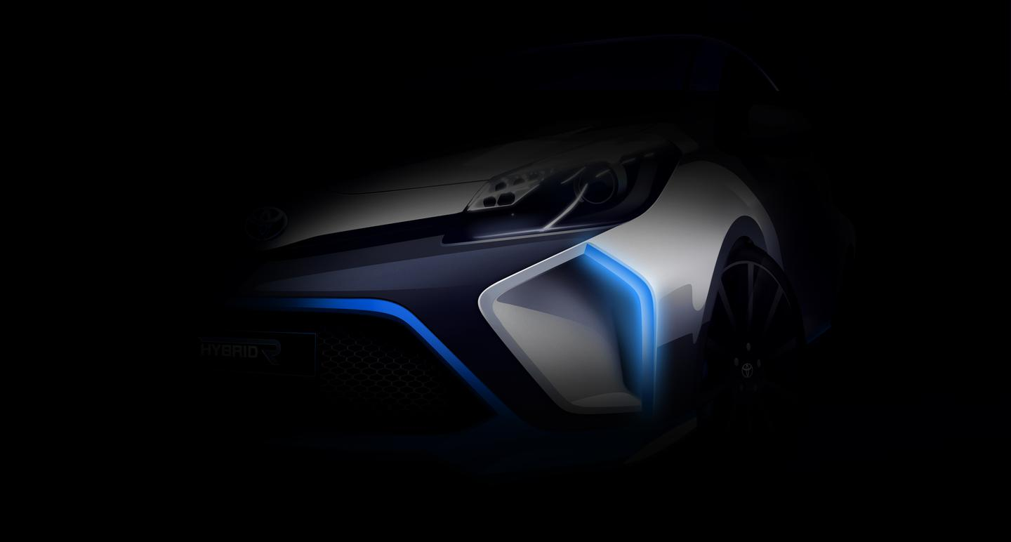 Teaser photo of the Toyota Hybrid-R Concept