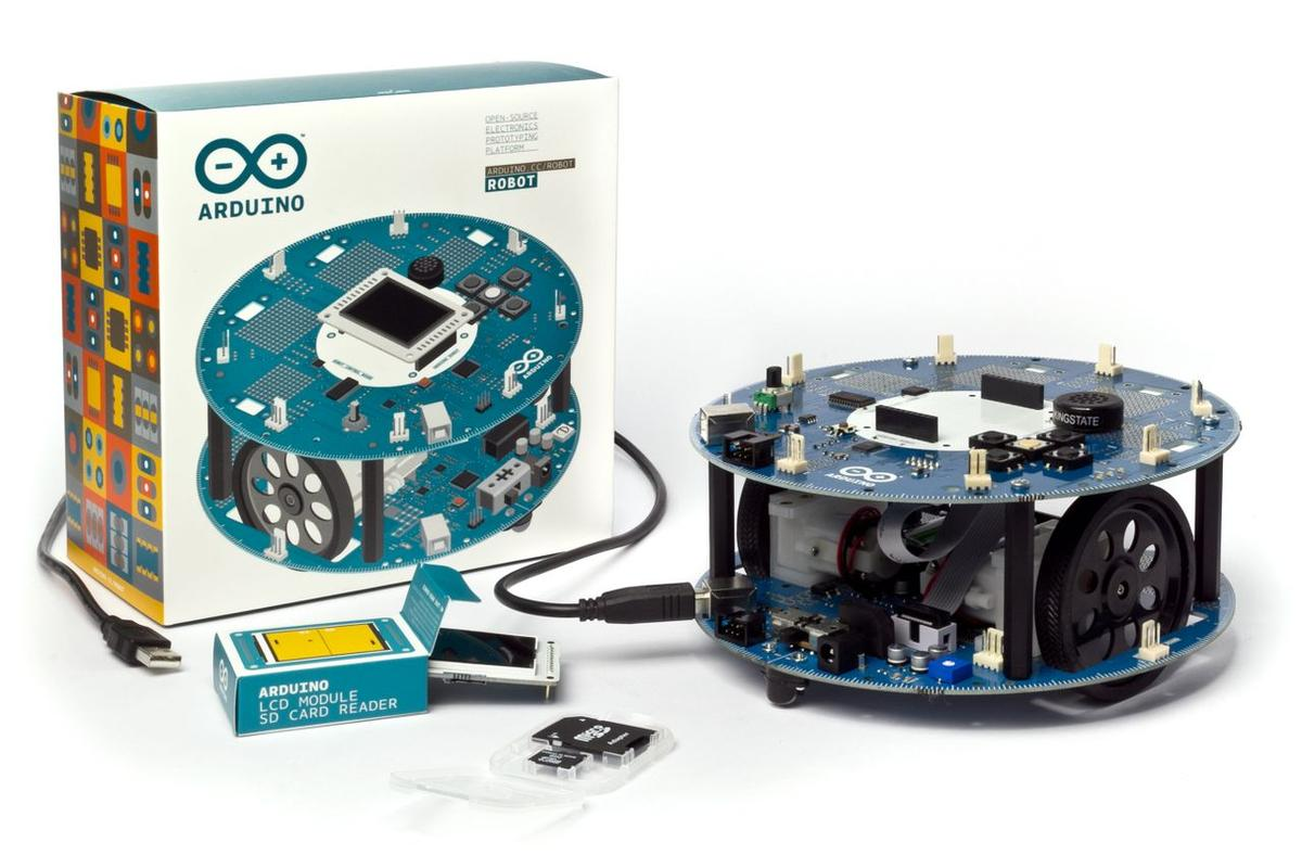 The two-wheeled and fully hackable Arduino Robot