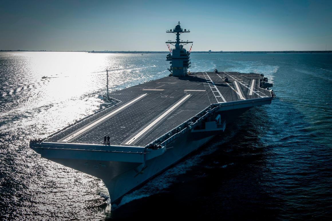 The USS Gerald R Ford is expected to go operational in 2021