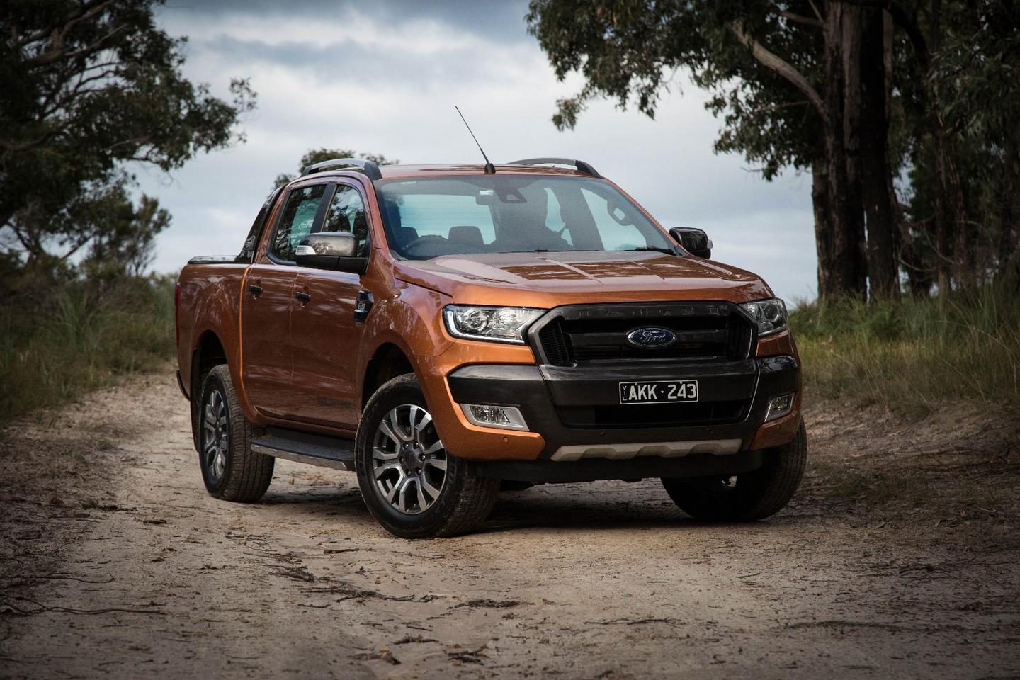 The Ford Ranger Wildtrak comes in a special shade of Pride Orange