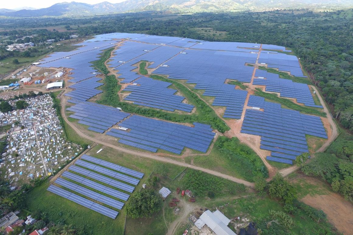 The first phase of the facility comprises 132,000 solar panels