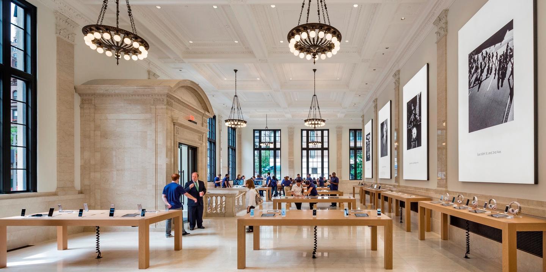Bohlin Cywinski Jackson rehabilitated New York City's historic USMortgage & Trust Company Building to turn it into an Apple Store